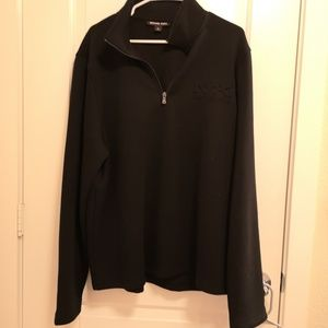 Michael Kors Black Zip Up Sweater Jacket XL